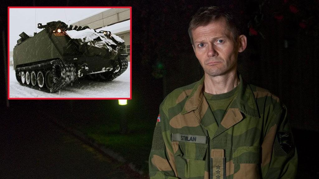 Under en øvelse for Ingeniørbataljonen døde en 19 år gammel kvinnelig soldat da hun ble pårygget av et pansret militærkjøretøy av typen M-113. Bildet av kjøretøyet er et arkivfoto.