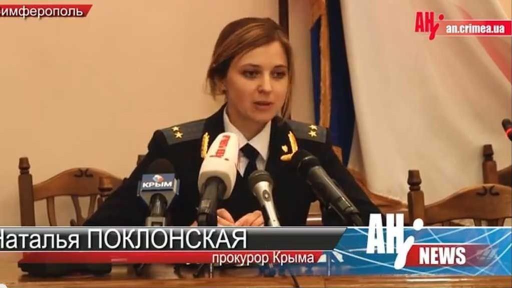 LOVENS HÅNDHEVER: Natalia Poklonskaja er nyutnevnt statsadvokat på Krim etter at regionen erklærte sin uavhengighet fra Ukraina og tilslutning til Russland.